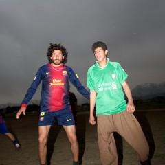 Footballers in Kabul university